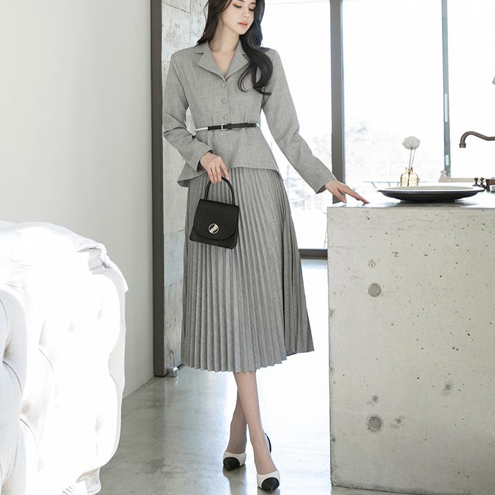 D4005 皱褶 连身裙