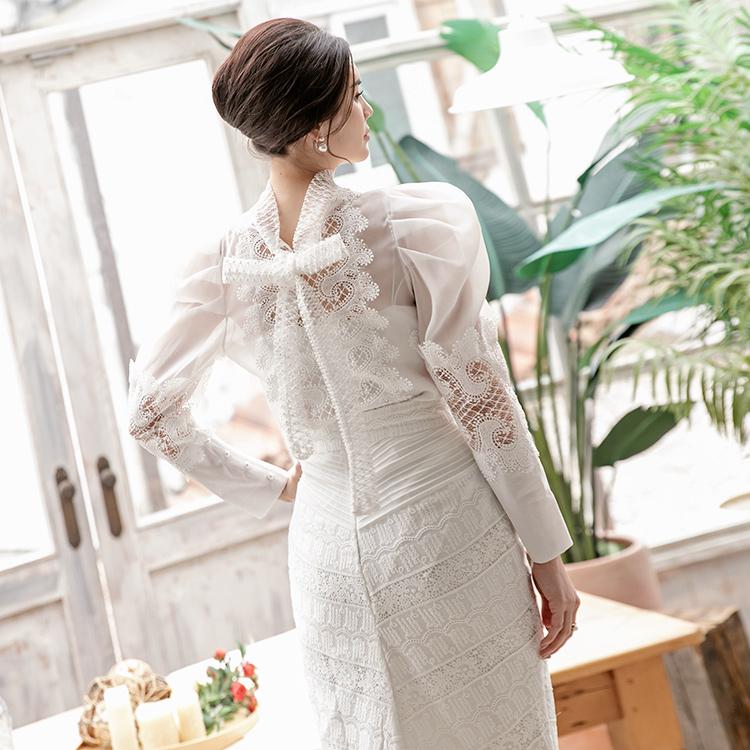 B2553 蕾丝雪纺纱