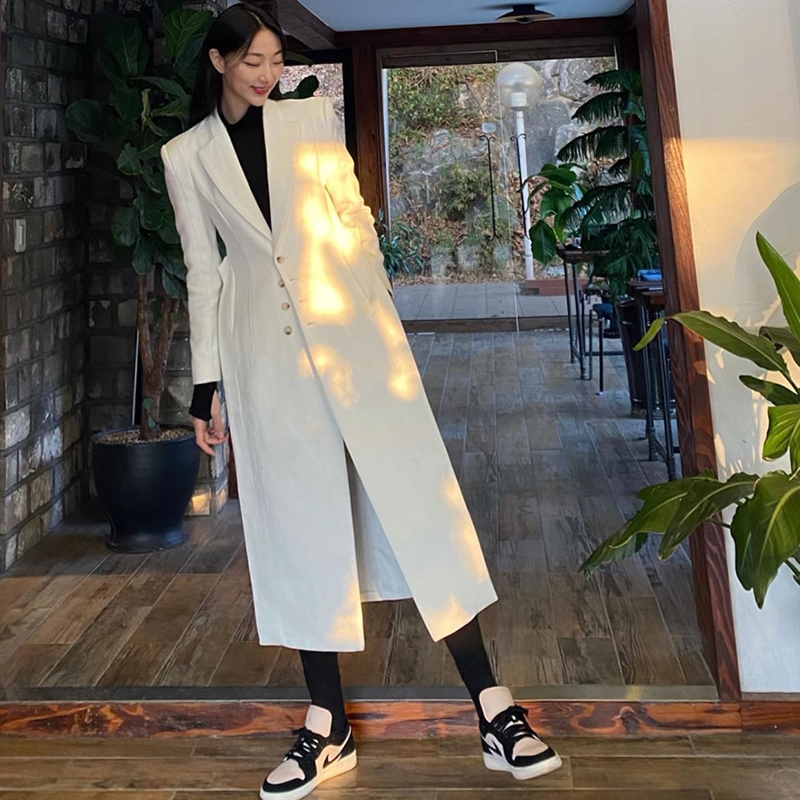 [韓國評價]虽然是白色长款大衣