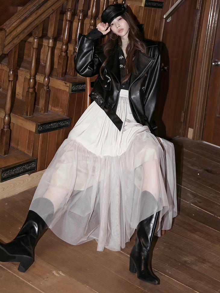 SK2100 低肩纱裙