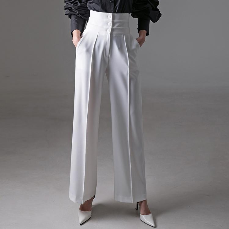 P2358 钮扣高腰宽裕宽裤