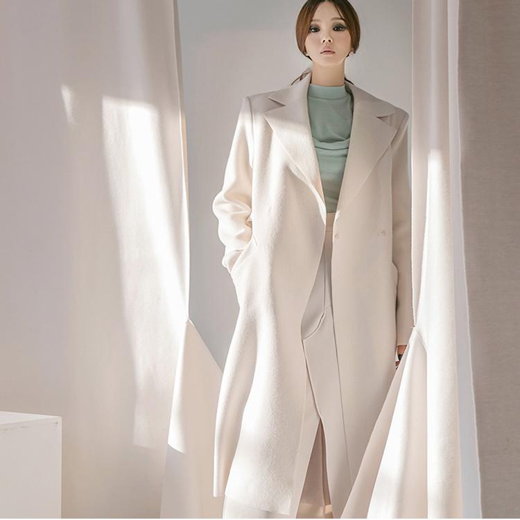 J1163 开士米绒双羊毛大衣 (腰带组合)