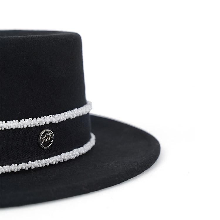AC-690 羊毛工艺珠子点缀软呢帽